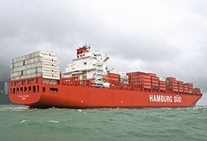 image: Germany Hamburg Süd SOx container shipping line pollution emissions