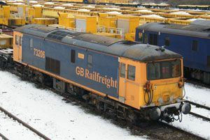 image: GBRf GB Railfreight rail freight locomotives Network Rail