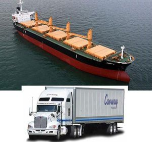 image: US logistics supply chain truck freight dry bulk index road haulage