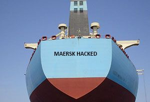 image: Maersk Denmark computer hack IT systems container shipping MSC