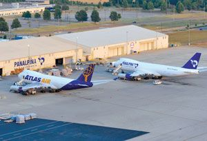 image: Switzerland freight forwarding logistics air cargo wet lease Panalpina Atlas Air