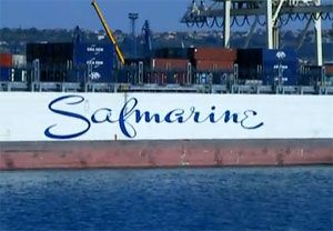 image: Europe India Sri Lanka freight container box TEU cargo vessel Panamax