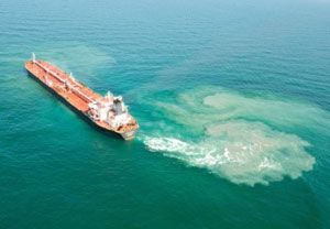 image: US bulk freight tankers aground ballast water Coast Guard Federica Agia Irini oil