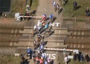 image: France UK London trucks level crossing fatal cyclist accidents fatalities cycling TGV Paris Roubaix road race