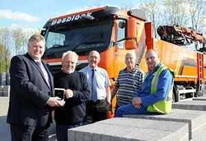 image: UK Besblock road haulage HGV Driver Eric Tranter