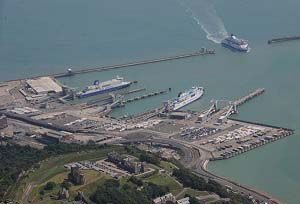 image: Port of Dover Eastern Docks UK Eurotunnel road congestion cross Channel ferry terminal