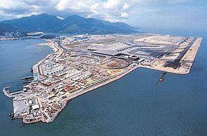 image: Hong Kong cargo terminal hub air freight traffic third runway Chek Lap Kok
