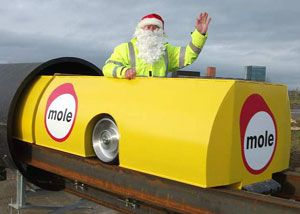 image: Mole freight pipeline road haulage capsules pallets maglev subterranean congestion