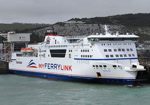 image: UK France RoRo Freight and Passenger Cross Channel Ferry Service Eurotunnel MyFeryLink SeaFrance