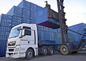 image: UK DP World London Gateway box repair container shipping JBS Pentalver deep water port