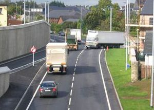 image: Northern Ireland UK freight trucks seaports