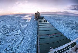 image: Arctic Antarctic freight vessel cruise liners polar code IMO