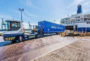 image: Belgium Sweden P&O ferries exports freight units tonnes Zeebrugge Frihamnen Stockholm