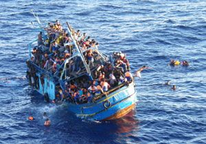 image: Europe migrant death vessel owners merchant ships humanitarian crisis Mediterranean seafarer people smugglers