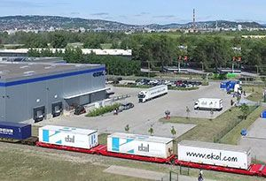 image: Hungary Germany Ekol logistics 3PL block train freight