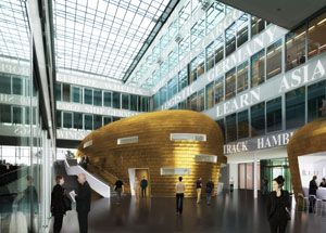 image: Germany K�hne Logistics University freight and logistics professional HafenCity Hamburg KLU golden egg