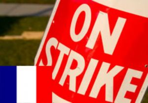 image: France shipping freight port dock strike CGT union transport export