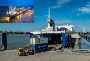image: Sweden,UK, Tilbury2, Norvik port, unaccompanied trailers, RoRo, freight, ferry, terminal, container,
