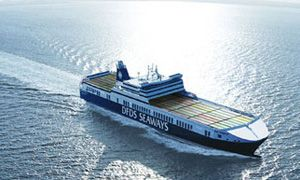 image: Belgium RoRo sea freight ferry haulage