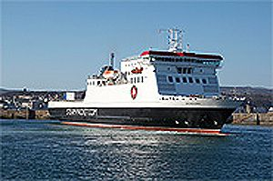 image: Isle of Man RoRo freight ferry container shipping