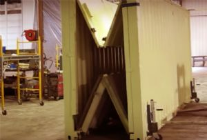 image: US Staxxon folding ISO containers shipping empty box 20 foot