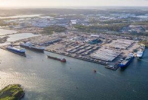 image: UK Sweden Gothenburg Port Elvir Dzanic post Brexit multimodal rail freight containers RoRo oil terminal