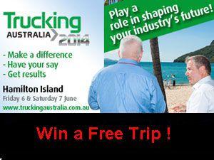 image: Australia trucking road haulage freight trucker free trip competition flights hotel dinner