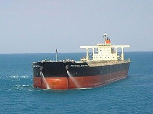 image: Japan China US shipping line longshoremen tax evasion iron ore carrier