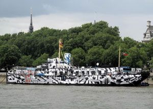 image: HMS President freight shipping logistics charity petition Q ship anti-submarine guns Lottery funding WWll St Paul's Cathedral River Thames London Foundation Trust