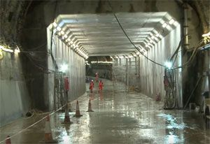 image: UK Thames crossing freight road haulage tunnel
