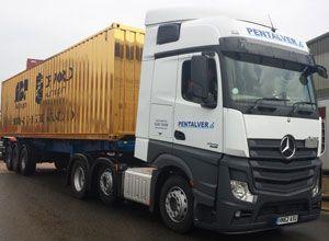 image: Sir Ben Ainslie Gold Standard ISO container shipping Pentalver TEU CMA CGM