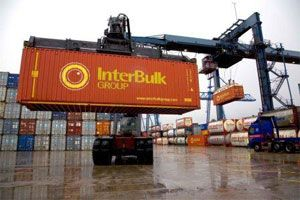 image: UK container shipping rail freight feeder service TEU terminal
