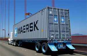 image: DCLI skeletal trailer hire chassis shipping freight container