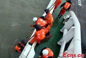 image: China container shipping tragedy sinking capsized