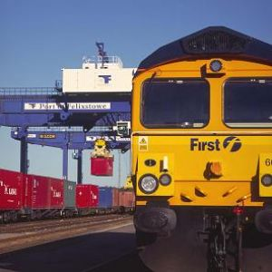 image: UK, rail freight, First GBRf, Birmingham Intermodal Freight Terminal, BIFT, Felixstowe, Doncaster Europort freight terminal, haulage, logistics, Ashley Stower, Kevin Witmore, containers,
