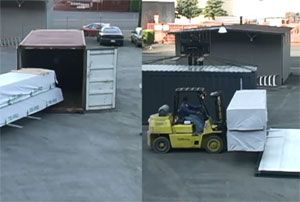 image: Pentalver secure freight container CakeBoxx shipping rail truck haulage