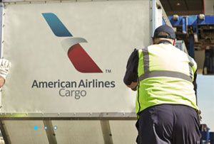 image: US American Airlines Cargo Swissport air freight Atlanta terminal