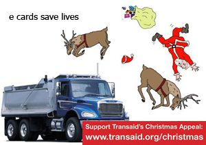 image: Christmas e card charity logistics driving standard transport Transaid