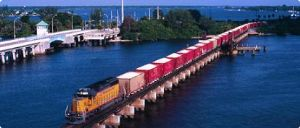 image: USA, Miami, Port of Miami, POM, Florida East Coast Railway, FEC, Transportation Investment Generating Economic Recovery, TIGER, Hialeah, West Dade, Freight, rail freight, haulage, trucks, lorry, road, sea freight, containers, shipping