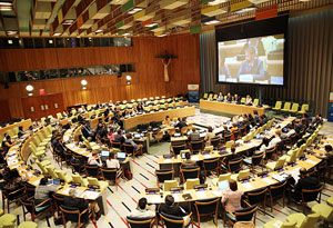 image: FIATA UN freight forwarding United Nations High Level Political Forum (HLPF) sustainable goals logistics