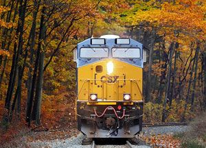 image: CSX US sustainability transport rail freight intermodal Dow Jones