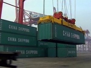 image: Container, freight, transport, trade, China, Chinese, containerised, shanghai, shipping, logistics, ports, cargo, movement