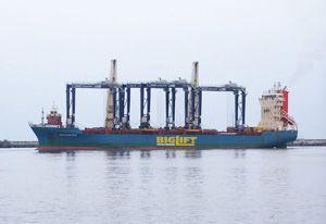 image: RTG UK Teesport container handling terminal freight TEU port