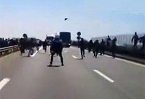 image: France UK freight logistics Calais truck drivers migrants BIFA RHA road haulage FTA