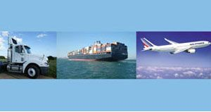 image: Road Sea Air Freight C. H. Robinson haulage third party logistics 3PL LTL less than truck loads intermodal global decline