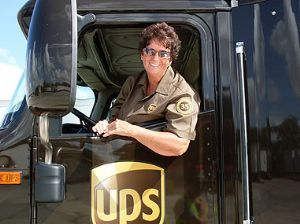 UPS Honours Woman Freight Truck Driver