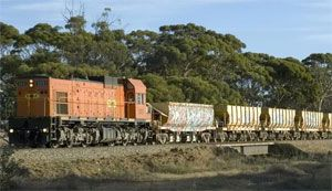 image: Australia rail freight shipping Baltic Dry Index infrastructure bulk trucks haulage