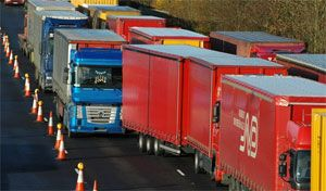 image: UK RHA freight truck cargo shipping container parking port facilities deep sea RoRo