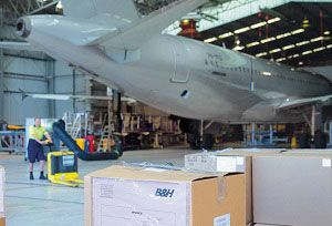 image: UK Aerospace Logistics warehousing supply chain Logix Aero B&H