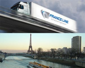 image: France road freight groupage truck trailer haulier women